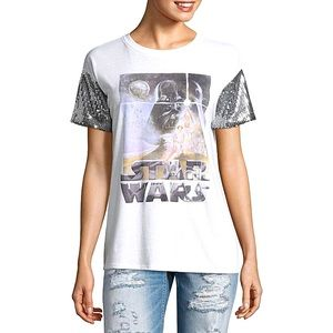 Star Wars Sequin Sleeve T-Shirt